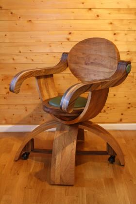 Chaise de Bureau « Fantasque » en merisier et noyer