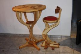 "Table haute ""Bulbe"""